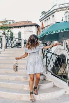 A sweet off the shoulder dress