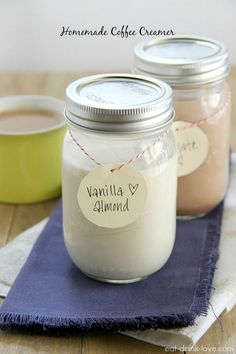 Homemade Coffee Creamer: Vanilla Almond and Chocolate