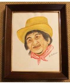 """""""My Hispanic Friend"""" is an original watercolor by Sister Mary Oliver Reising"""