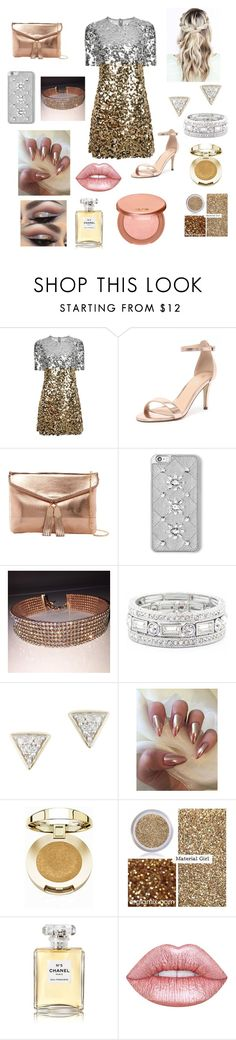 """""""Going out, #4 Gold"""" by rinabelle ❤ liked on Polyvore featuring Dolce&Gabbana, Verali, Urban Expressions, MICHAEL Michael Kors, Sole Society, Adina Reyter, Milani, Material Girl, Chanel and Lime Crime"""