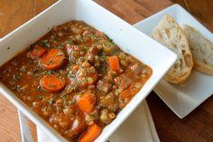 Mrs. Schwartz's Kitchen: Crockpot Beef Barley Soup