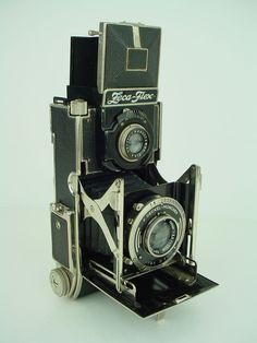 Zeca Flex Zeh Camera Vintage 1937 Strut Folding TLR w 7 5cm Tessar Lens RARE | eBay