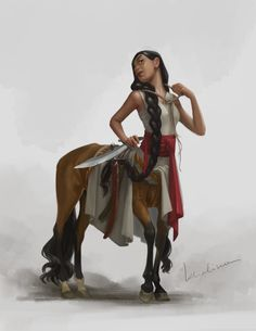 Centaur for Character Design Challenge Fantasy Character Design, Character Concept, Character Inspiration, Character Art, Mythical Creatures Art, Fantasy Creatures, Magical Creatures, Dungeons And Dragons Characters, Dnd Characters