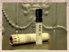 Le Labo perfume samples.  I am on the hunt for the perfect scent.  As much as I love J'adore, I don't think it is right for me just yet.  These fragrances are $$$$, so I am thinking about a few samples first--Iris, Bergamote, Oud, and Jasmine.