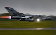 Tornado, 41 Squadron Royal Air Force. This is what I call low-level bombing!