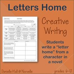 "In this creative writing assignment, students choose a character from a novel and write a ""letter home"". They consider what version of events the character might include in a letter to a loved one, deciding what to play up and what to omit. This is a great assignment for any grade level and can be applied to any book that features characters away from home. (6-12)"