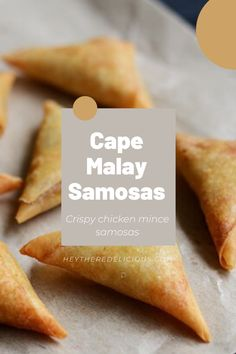 These samoosas are a childhood favorite of mine, and many people around the world. They are usually triangular in shape and have a variety of different aromatic fillings – whether chicken or beef mince, vegetables, or cheese – and they are all delicious. Spring Roll Pastry, Samosa Recipe, Pastry Shells, Fresh Coriander, Crispy Chicken, Spring Rolls, Chutney, Cape, Childhood