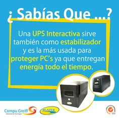 #SabíasQue Una UPS Interactiva sirve también como estabilizador y es la más usada para proteger PCs  #protegasuPc #Blazer #UPSBlazer