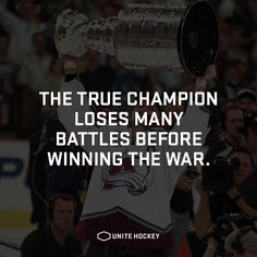 The true champion loses many battles before winning the war. #quote…