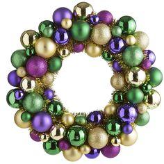 Festive Multicolor Ornament Wreath