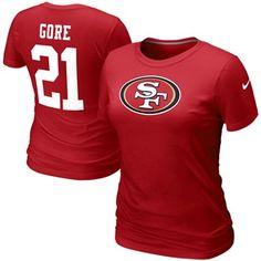 Nike Frank Gore San Francisco 49ers #21 Women's Name & Number T-Shirt