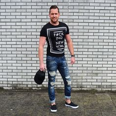 Ripped blue jeans €27,99 http://mymenfashion.com/ripped-bluejeans.html