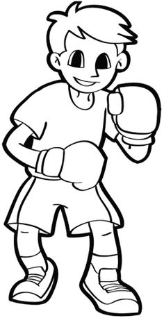 Attacked Enemy Strong Boxing Coloring Pages Sports Coloring Pages, Cartoon Coloring Pages, Coloring Book Pages, Coloring Tips, Coloring Pages For Kids, Naughty Kids, At Home Hair Color, Images Of Colours, House Color Schemes