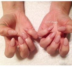 Nail envy right there!   Love these nude gel extensions, such a beautiful colour and shape.