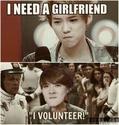 Luhan needs a girlfriend. I VOLUNTEER!!!