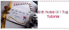 Stitchable Gift Tags Template