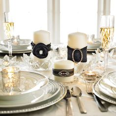 Michaels.com Wedding Department: DIY Black and Rhinestone Wedding Candles In a few easy steps and very little time, you can create a wedding centerpiece that is both beautiful and unique!