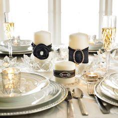 #DIY Black and Rhinestone #Wedding #Candles #MichaelsStores