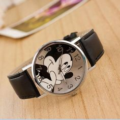 Free Shipping New 2017 Fashion Cool Mickey Cartoon Watch For Children Girls Leather Digital Watches For Kids Boys Christmas Gift Watches