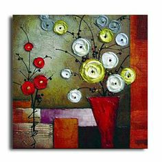 Floral Lucky Tree Oil Painting - Set of 2 - Free Shipping | Flower on abstract oil painting, abstract heart art painting, abstract art paintings by famous artist, sunflower paintings vase, abstract ceramic vases, claude monet flower vase, abstract tulip paintings, pencil drawing still life flowers in a vase, abstract paintings of flowers, abstract art paintings flowers, folk art flower vase, abstract drawings of flowers,