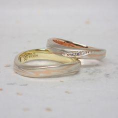 Mokumegane Wedding RIng 木目金の結婚指輪
