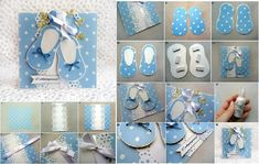Here+is+a+great+idea+to+make+a+baby+shoes+themed+card.+It+is+such+a+cute+little+card!+You+can+use+it+in+many+occasions,+such+as+baby+shower+invitation+card,+new+baby+welcome+card,+new+baby+congratulations+card…