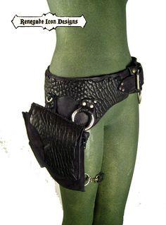 Renegade Icon Designs: thigh bag, burning man, tank girl, mad max, utility belt, bondage, fetish