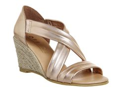 Buy Rose Gold Leather Office Maiden Cross Strap Wedges from OFFICE.co.uk.