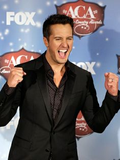 Luke Bryan poses in the press room during the American Country Awards 2013 at the Mandalay Bay Events Center on December 10, 2013 in Las Vegas, Nevada