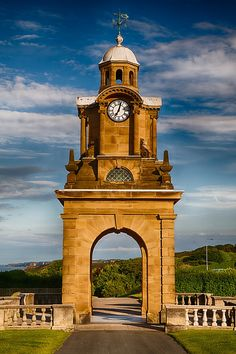 Holbeck Clock Tower - photo by Radomir Rezny, via Scarborough, England Yorkshire England, North Yorkshire, England Uk, Beautiful Architecture, Beautiful Buildings, Unusual Clocks, Whitby Abbey, Time In The World, As Time Goes By