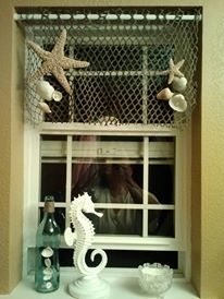 if ya cant find what your lookin for.. DIY !!! valance for my daughters sandcastle beach themed bathroom....