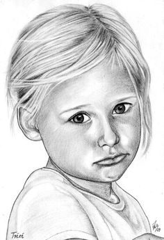 Portrait of your favorite - Art-Portraits I Admirer - Geschenk Girl Drawing Sketches, Portrait Sketches, Pencil Portrait, Portrait Art, Realistic Pencil Drawings, Pencil Art Drawings, Cute Drawings, Lily Painting, Painting & Drawing