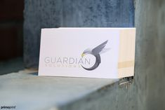 Custom design for Guardian Solutions. Printed on 100LB card stock that provides a cross-hatch woven texture giving them a slightly textured look and feel.