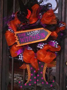 Whimsical Halloween Wreath - by HappyHomeDesign