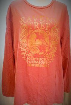 Cremieux Raven Tree Kentucky Straight Burbon Long Sleeve Tshirt 100% Cotton XL #CremieuxPremiumDenim #EmbellishedTee