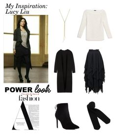 """My power look inspiration:LucyL"" by im-karla-with-a-k on Polyvore featuring Loewe, Theory, Monki, Charles David, Max&Co. and powerlook"