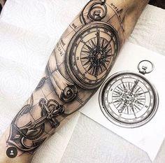 Tatto – Ben Diehl – – Maps from everywhere Left Arm Tattoos, Map Tattoos, Stomach Tattoos, Tattoo Fonts, Forearm Tattoos, Body Art Tattoos, Tattoo Quotes, Nautical Tattoo Sleeve, Sea Tattoo Sleeve