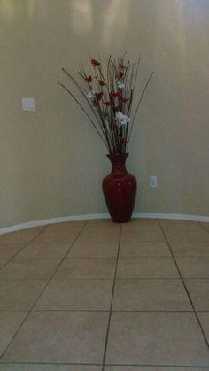 5 foot tall vase and spray