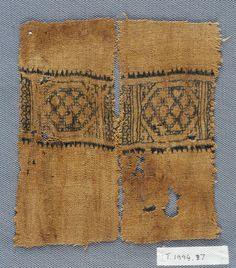 Egyptian double-running stitch embroidery from the Whitworth Gallery.