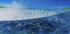 Niagara Falls by Serene Illustrations   Fantasy   Illustrations   Art   Imagination   Landscape   Painting   Acrylic   Print