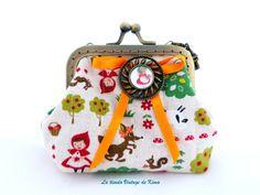 Monedero con boquilla -caperucita roja- de La Tienda Vintage de Kima por DaWanda.com