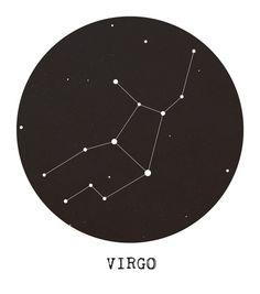 Virgo Star Constellation Art Print