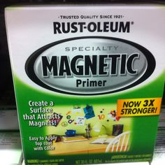 Magnetic paint primer - I want this NOW  but Im scared of how many projects it will lead to