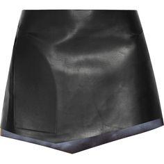Esteban CortazarLeather Mini Skirt ($1,194) ❤ liked on Polyvore featuring skirts, mini skirts, bottoms, saias, black, mini skirt, short leather skirt, real leather skirt, leather mini skirt and leather miniskirt