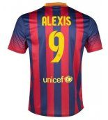 Barcelone Maillot football Domicile 13/14 Nike Collection(9 Alexis) #maillotdefoot