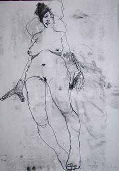 "Saatchi Online Artist: Michael Lentz; Pen and Ink, 2013, Drawing ""NUDE No. 2995"""