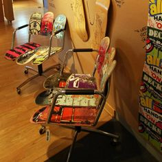 skateboard deck chairs