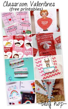 free Classroom Valentine printables and a blog hop