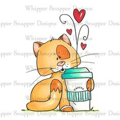 Whimsy Stamps, Digi Stamps, Cartoon Pics, Cartoon Drawings, Cute Images, Cute Pictures, Panda Bebe, Cat Character, Cat Drawing