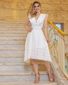 Cute Dresses, Beautiful Dresses, Casual Dresses, Fashion Dresses, Summer Dresses, Dress Skirt, Lace Dress, Dress Up, White Dress